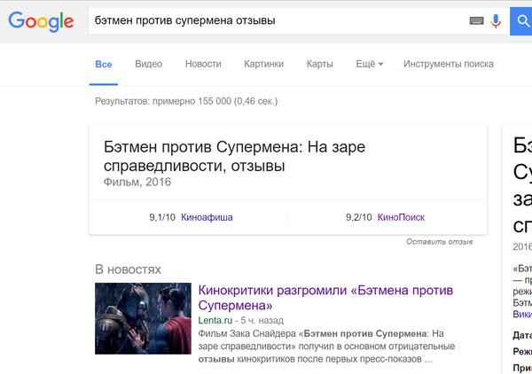 Завтра российская премьера фильма Бэтман против Супермэна. Кинопоиск, Критики, Лента