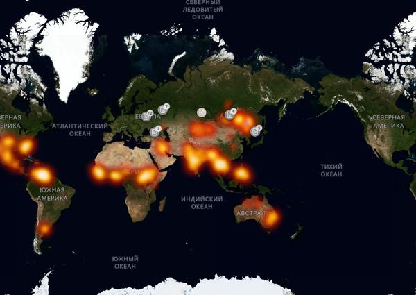 Карта пожаров Пожар, Карты, Сайт