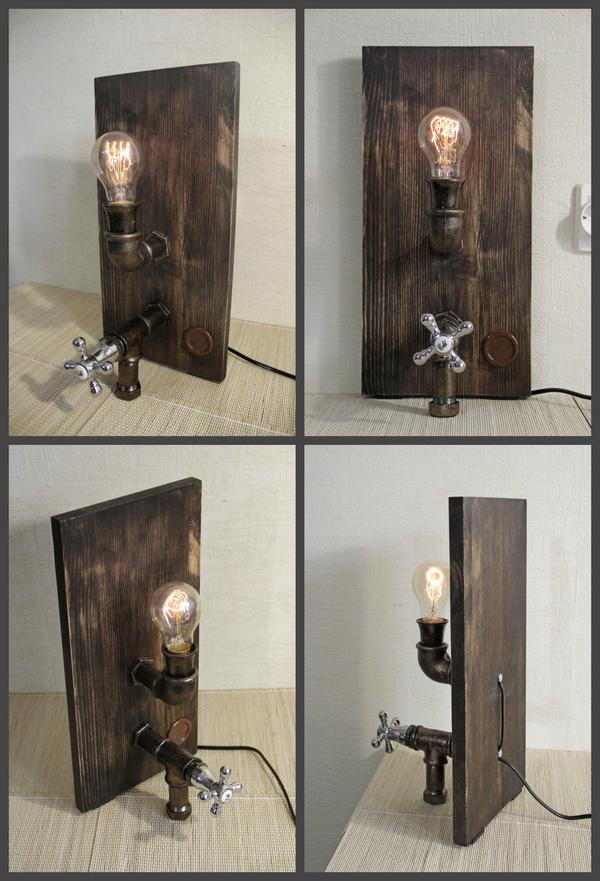 Настольная лампа лампа, лофт, Pipe-Lamps, лампа эдисона