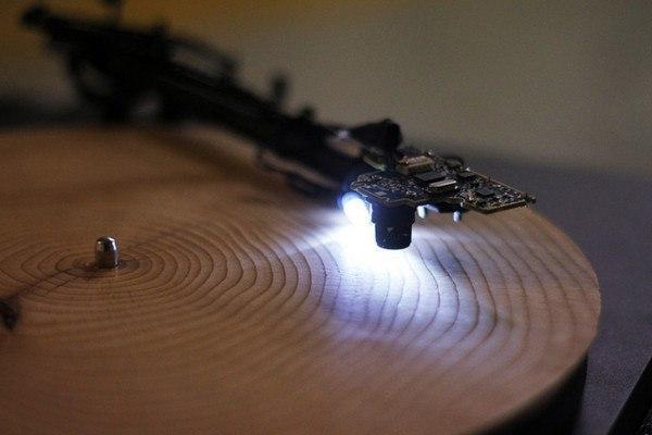 Музыка из дерева Дерево, Музыка, Патефон, Фото, Длиннопост
