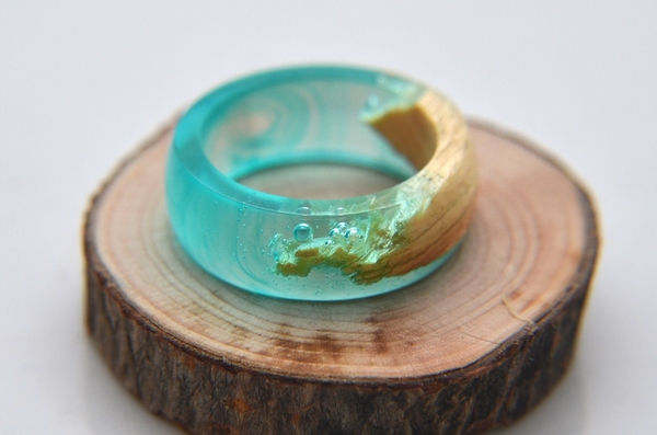 Как сделать кольцо из дерева и эпоксидной смолы своими руками Кольцо из дерева, Эпоксидная смола, Своими руками, Мастер-Класс, Длиннопост, Кольцо