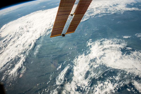 Фотография Новосибирска с МКС МКС, Новосибирск, Снимки из космоса, Обь