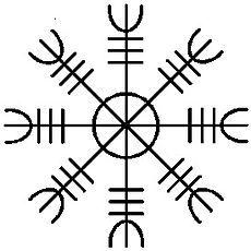 Агисхьяльм. Агисхьяльм, Руны, Футарк, Скандинавская мифология