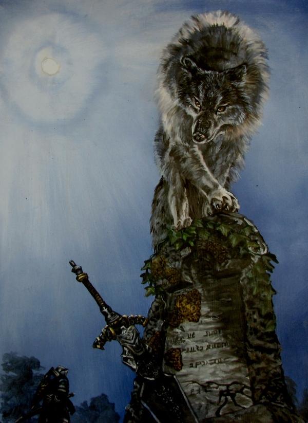 Сиф Великий Волк Dark souls, Сиф великий волк, Арт