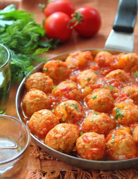 Фрикадельки в томатном соусе пп, еда, здоровое питание, фрикадельки, тефтели, длиннопост