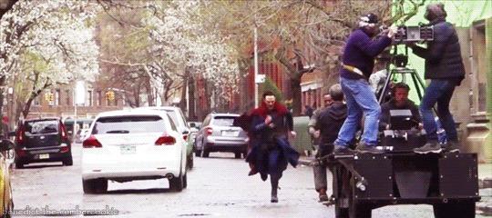 """Съёмки """"Доктора Стрэнджа"""" Съемки, Доктор Стрэндж, Marvel, Мадс миккельсен, Бенедикт Камбербэтч, Фильмы, Гифка, Длиннопост"""