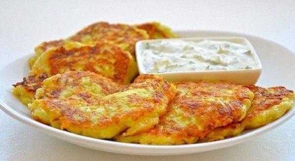 Кабачковые оладьи с сыром и чесноком оладьи, пп, зож, еда, вкусно, кабачок, рецепт, кулинария