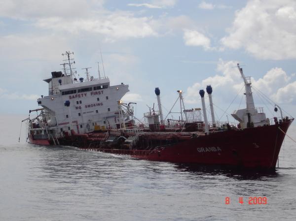 Танкер Granba Спасение, Танкер, Индийский океан