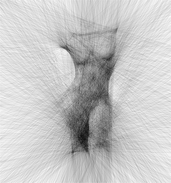 Рисунок, сделанный прямыми линиями