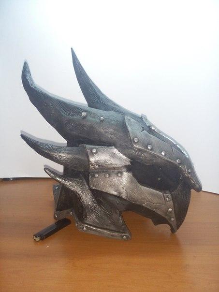 Даэдрический шлем. Skyrim, Косплей, Шлем, Длиннопост