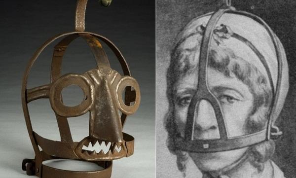 «Ругательская уздечка» - средневековое орудие  для сварливых женщин Мода, История, Наказание, Длиннопост