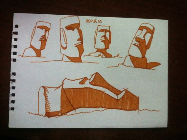 Снеговик #3. Моаи. Снеговик, Статуя, Моаи, Остров пасхи, Наше, Видео