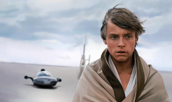 Luke by Aleksandra Ratajczak Люк скайуокер, Star wars, Artstation, Арт