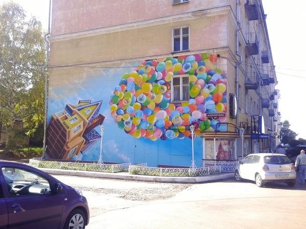 Граффити в Архангельске граффити, архангельск, Вверх