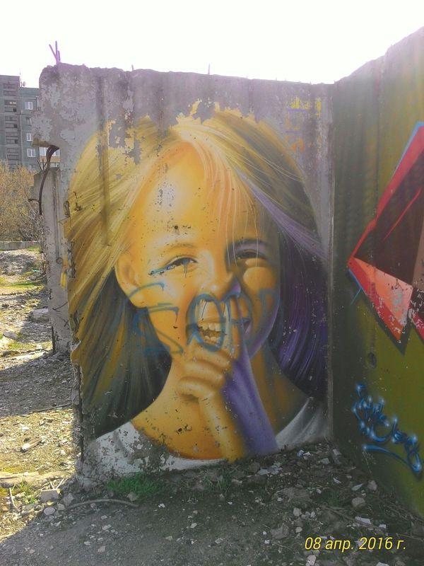 На такое вот творчество случайно наткнулся на заброшенной стройке. Макеевка, Донецкая область. Граффити, Макеевка, Длиннопост