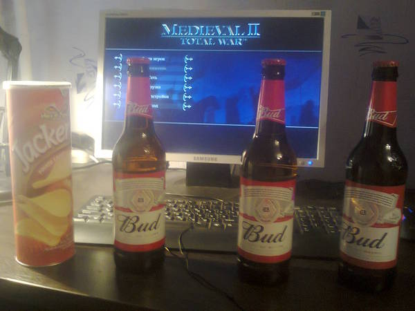 Суббота Total war, Medieval, Bud, Пиво