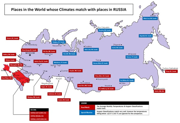 Сравнение климатических условий России и Северной Америки livejournal, метеорология, длиннопост, Россия, климат, Политика