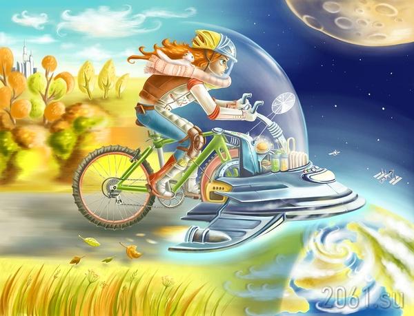 Ветреная мечта о звездах Ссср-2061, Космос, Рисунок