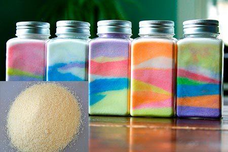 Как своими руками сделать цветной песок