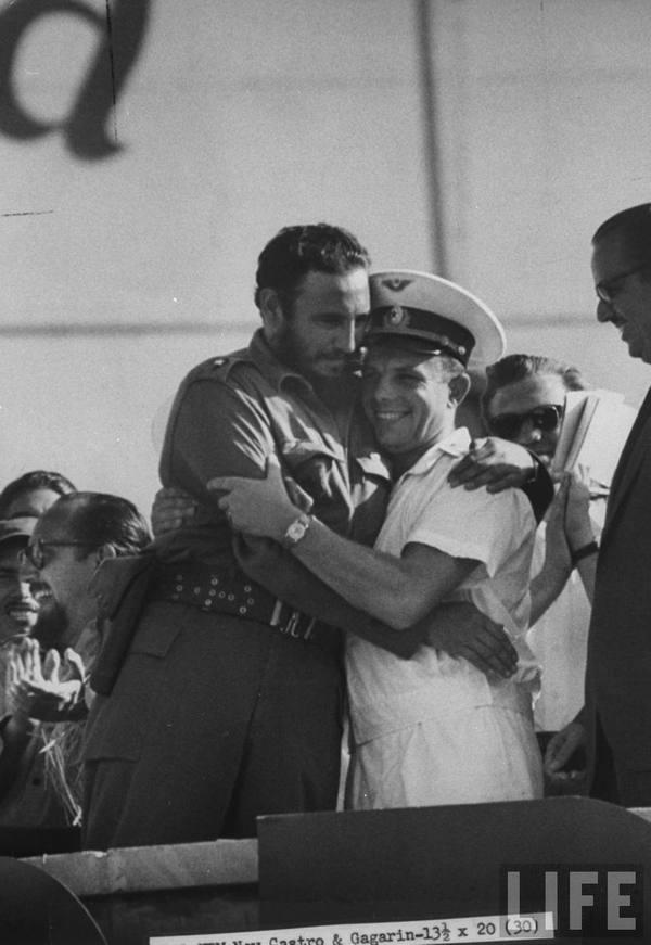 Фидель Кастро и Юрий Гагарин, 1961 год