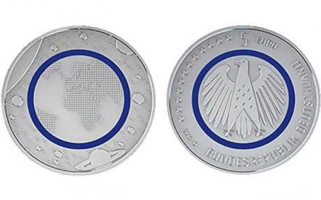 Вот так выглядит новая монета номиналом 5 Евро в Германии