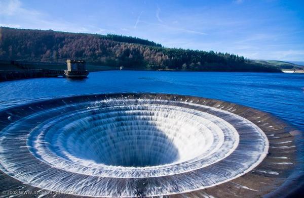 Воронки для сброса воды на плотинах, система bell-mouth spillway Водохранилище, Воронка, Bell-Mouth spillway, Видео, Длиннопост