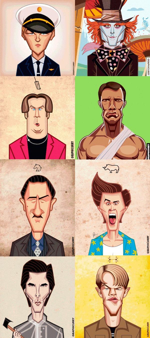 Восемь актёров - пятьдесят шесть ролей. 9GAG, Джим Керри, Джонни Депп, Арнольд Шварценеггер, Мэтт Дэймон, Кристиан Бейл, Роберт Де Ниро, Леонардо ди Каприо, Гифка