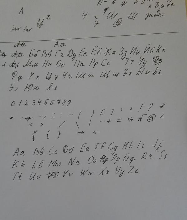 Создание собственного рукописного шрифта Рукописный шрифт, Длиннопост, Своими руками, Полезное, Лайфхак