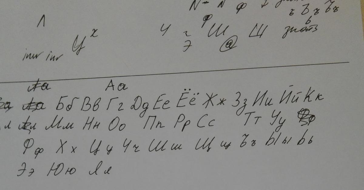 Создание собственного рукописного шрифта