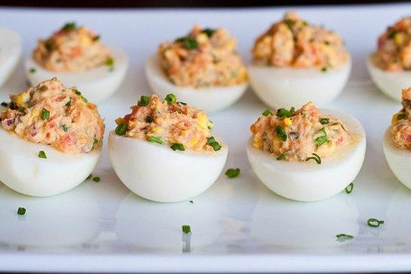 Яйца, фаршированные тунцом. Вкусно и просто. еда, кулинария, яйца, рецепт, пп, блюда с тунцом, тунец