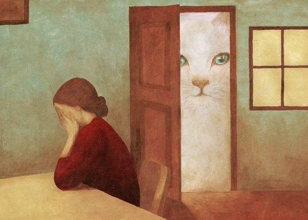 Ты, когда не можешь выйти на улицу. Потому что гигантский кот мешает пройти.