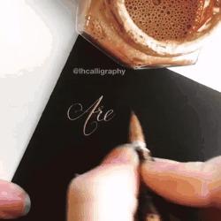 Calligraphy by Laura Hooper Каллиграфия, Calligraphy, Laura Hooper, Гифка, Красота, Длиннопост