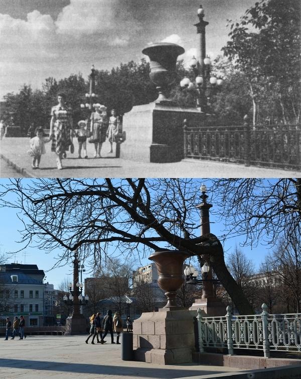 Цветной бульвар у Трубной площади Фото, Тогда и сейчас