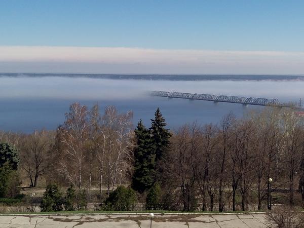 Мост вникуда... Ульяновск, Туман, Волга, Длиннопост