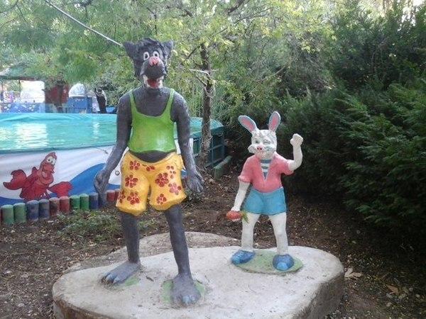 Милый детский парк в Севастополе Сказочные герои, Детская травма, Длиннопост
