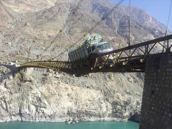Подвесной мост в Пакистане Мост, Обрушился