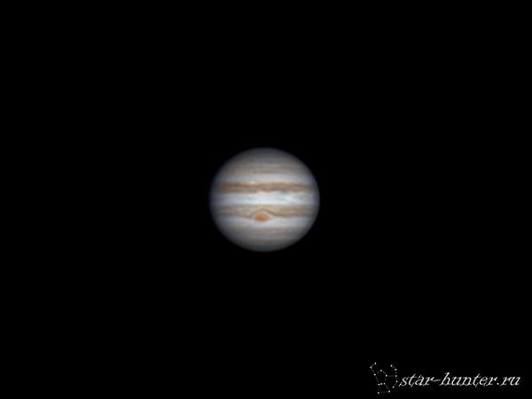 Юпитер, 29 апреля 2016 года, 20:10. Юпитер, астрофото, астрономия, starhunter, КраснодарБалкон