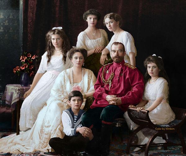 Царская семья в цвете царская семья, колоризация, Романовы, длиннопост