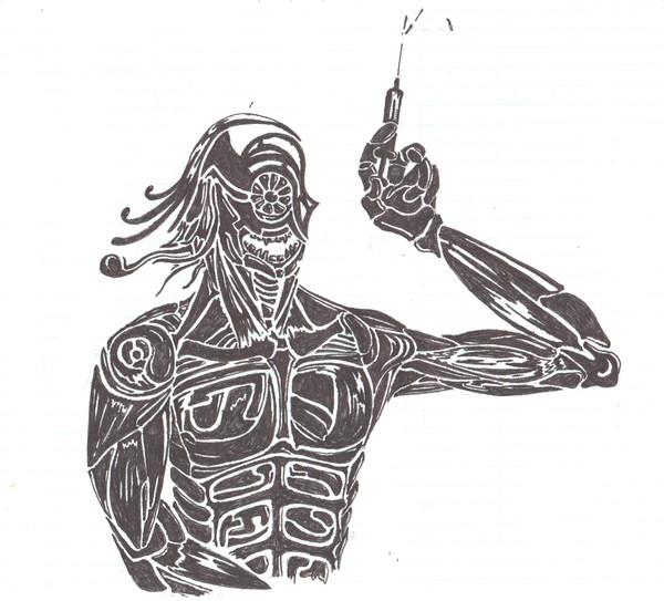 Злобный доктор Векормос рисунок, Детство, моё, критика