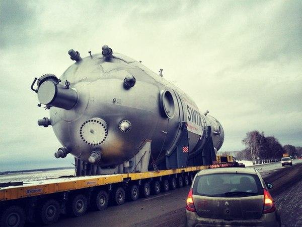 Доставка химического реактора в Салават. Фотографировал я, доставлял я, тег моё. Моё, Реактор, Уфа, Салават, Газпром
