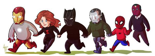 Две разные стороны Противостояния от художника emedeme Первый мститель:Противостояние, Marvel, Арт, TeamCap, TeamIronMan