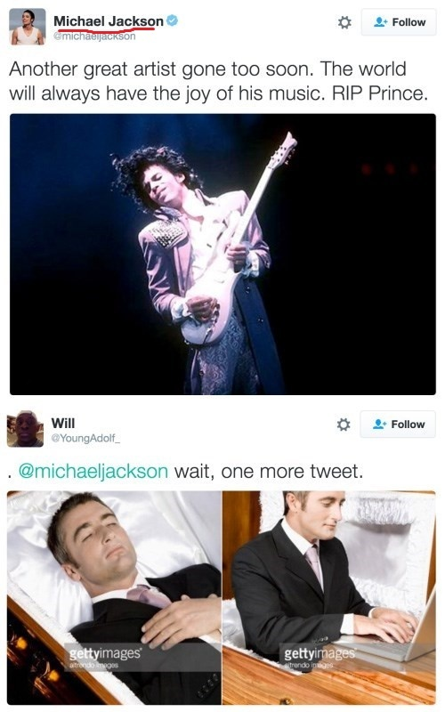 Майкл продолжает твитить Джексон, Принц, Пост