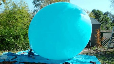 Эффектное появление Гифка, The Slow Mo Guys, Slow motion, Воздушные шарики