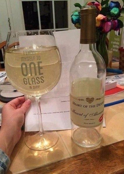 Я ограничиваю себя одним бокалом вина в день