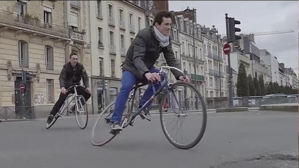 Велосипед с крутящейся рамой Велосипед, Рама, Странный велосипед, Необычный велосипед, Видео
