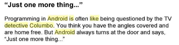 Программировать под Android это как... Android, Коломбо, Цитаты, Программирование, Just one more thing