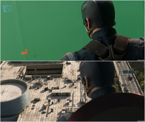 Спецэффекты фильма «Первый мститель: Противостояние» Первый мститель:Противостояние, Civil war, Marvel, VFX, Спецэффекты, Длиннопост