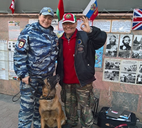 Глухонемой байкер, объехавший весь мир, в Хабаровске. Владимир Ярец, белорусы, Байкеры, сила воли, длиннопост
