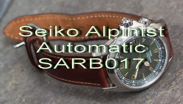 Легендарные SEIKO SARB017 ALPINIST зеленый альпинист