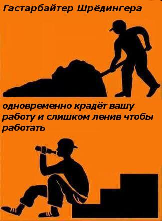 Гастарбайтер Шрёдинегра